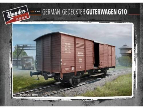 Thunder Model German Gedeckter GĂĽterwagen G10 1:35 (35901)