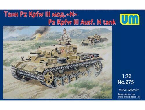 Unimodels Pz.Kpfw III Ausf.N German Tank 1:72 (275)