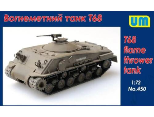 Unimodels T68 Flame thrower Tank 1:72 (450)