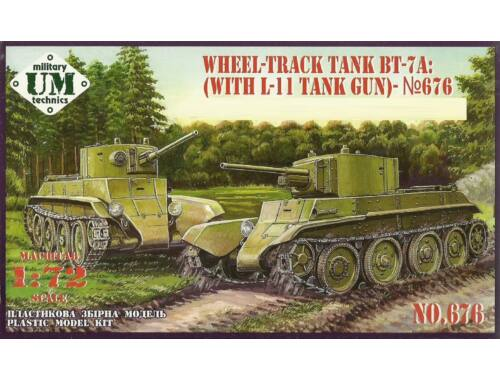 Unimodels BT-7A Soviet Tank with L-11 gun 1:72 (T676)