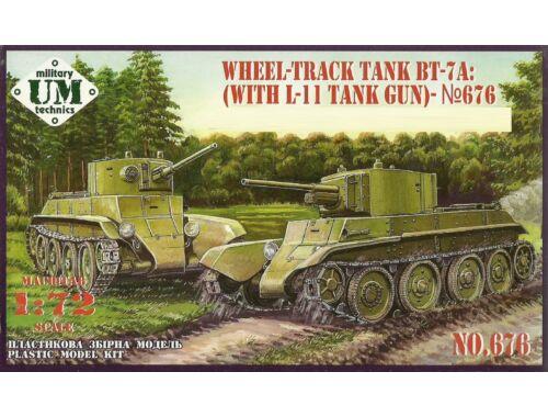 Unimodels BT-7A Soviet Tank with L-11 gun 1:72 (T676)