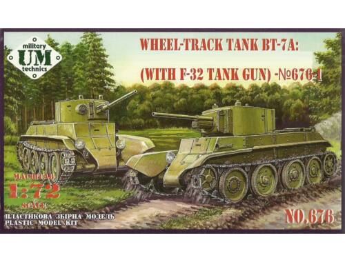 Unimodels BT-7A Soviet Tank with F-32 gun 1:72 (T676-01)