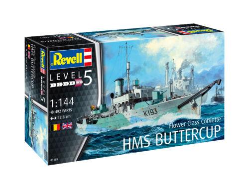 Revell Flower Class Corvette HMS Buttercup 1:144 (5158)