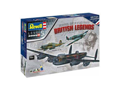 Revell 100 Years RAF: Gift Set Flying Legends 1:72 (5696)