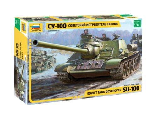 Zvezda SU-100 Soviet tank destroyer 1:35 (3688)