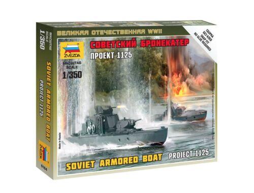 """Zvezda Soviet Armored Boat """"Project 1125"""" 1:350 (6164)"""