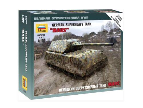 Zvezda German Superheavy Tank Maus 1:100 (6213)