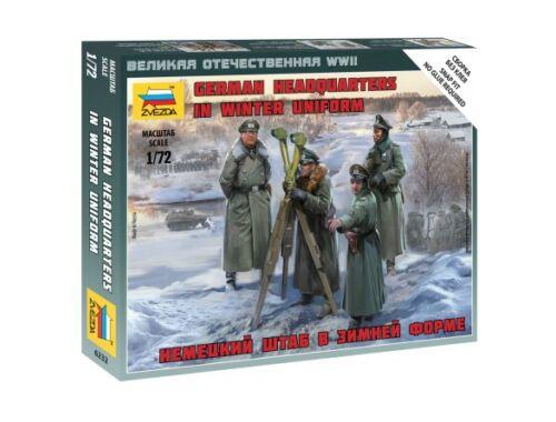 Zvezda German Headquarters in Winter uniforms 1:72 (6232)