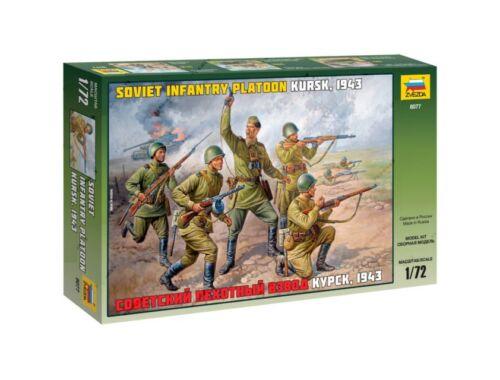 Zvezda Soviet Infantry Platoon Kursk WWII 1:72 (8077)