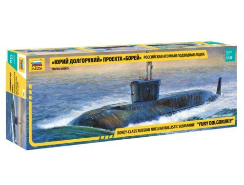 Zvezda Yuri Dolgorukij Borey-Class Submarine 1:350 (9061)