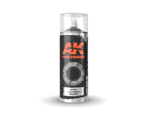 AK Sprays Fine Primer Black Spray 400ml AK1009
