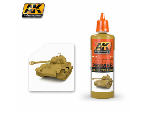 AK Surfacer Dark yellow primer (Sötét sárga alapozó) AK176