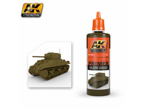AK Surfacer Olive Drab Primer (olajbarna felület alapozó) AK182