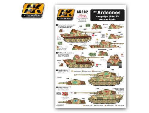 AK The ARDENNES campaign 1944-45 German tanks AK802