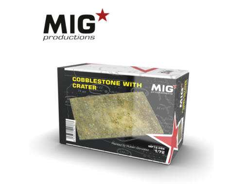MIG Productions 1:72 Cobblestone With Crater MP72-086