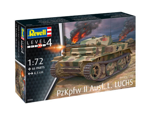 Revell PzKpfw II Ausf. L Luchs (Sd.Kfz. 123), 1:72 (3266)