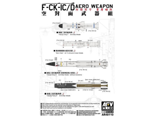 AFV-Club F-CK-IC/D AERO WEAPON 1:48 (AR48110)
