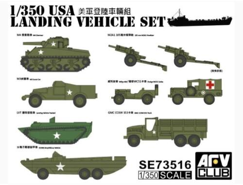 AFV-Club US WW2 Vehicle Set 1:350 (SE73516)