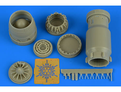 Aires MiG-27 Flogger late exhaust nozzle-close for Trumpeter 1:48 (4744)