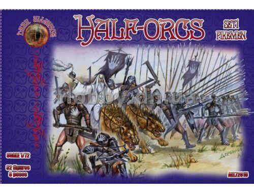 ALLIANCE Half-Orcs pikemen, set 1 1:72 (72015)