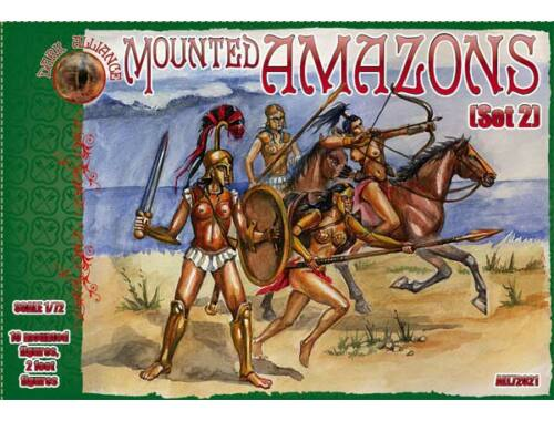 ALLIANCE Mounted Amazons (Set 2) 1:72 (72021)