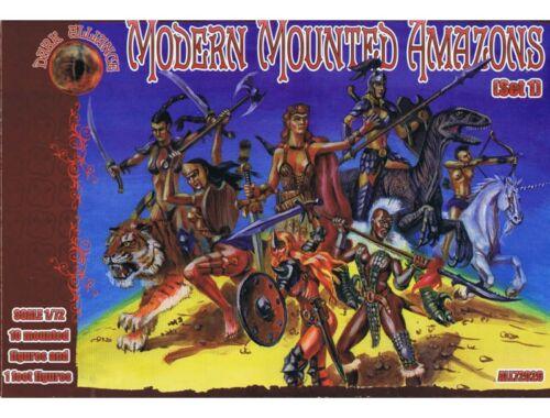ALLIANCE Modern Mounted Amazons, Set 1 1:72 (72026)
