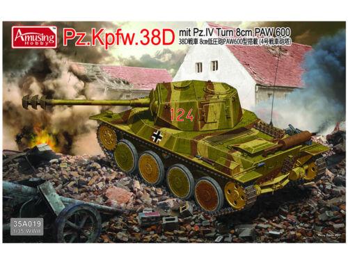 Amusing H. Pz.Kpfw.38D mit Pz.IV Turm 8cm PAW 600 1:35 (35A019)