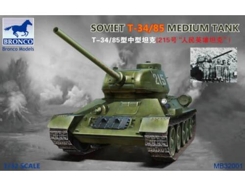 Bronco Soviet T-34/85 Medium Tank 1:32 (MB32001)