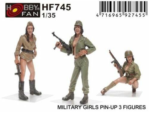 Hobby Fan Military Girls Pin-Up 3 Figures 1:35 (HF745)