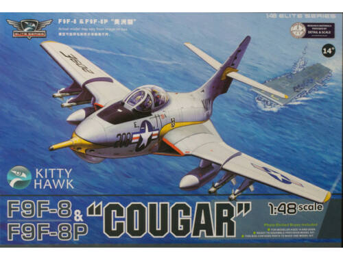"Kitty Hawk F9F-8/F9F-8P ""Cougar"" (2 in 1) 1:48 (KH80127)"