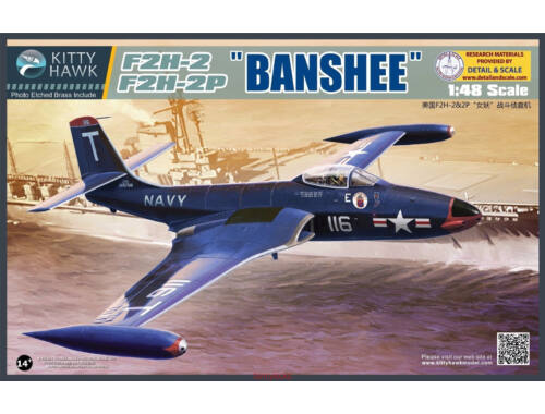 "Kitty Hawk F2H-2/F2H-2P ""Banshee"" 1:48 (KH80131)"