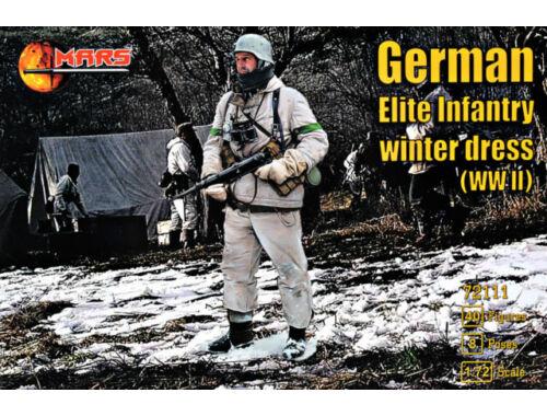 Mars WWII German elite infantry,winter dress 1:72 (MS72111)