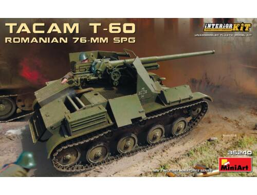 MiniArt Romanian 76-mm SPG Tacam T-60 InteriorKi 1:35 (35240)