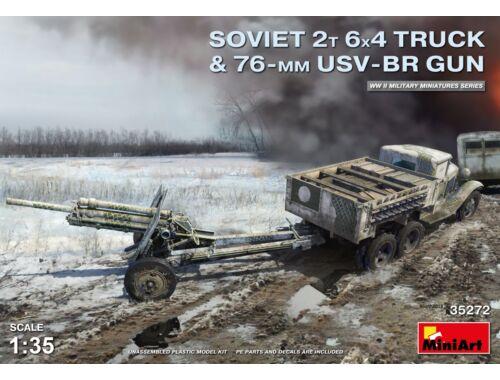 MiniArt Soviet 2t 6x4 Truck w.76mm USV-BR Gun 1:35 (35272)
