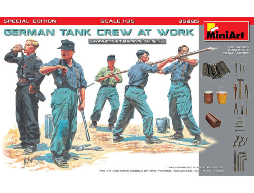 MiniArt German Tank Crew at Work.Special Edition 1:35 (35285)