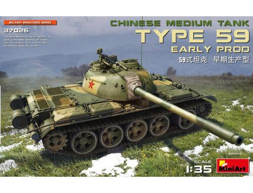 MiniArt Type 59 Early Prod.Chinese Medium Tank 1:35 (37026)