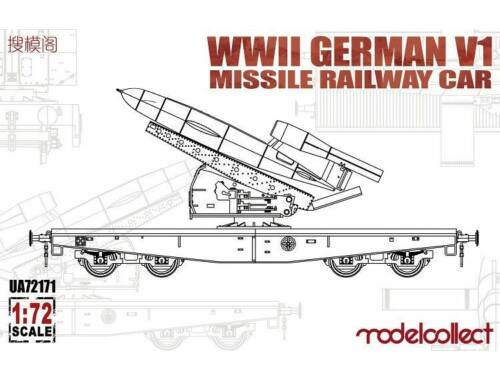 Modelcollect WWII Germany V1 Missile Railway Car 1:72 (UA72171)
