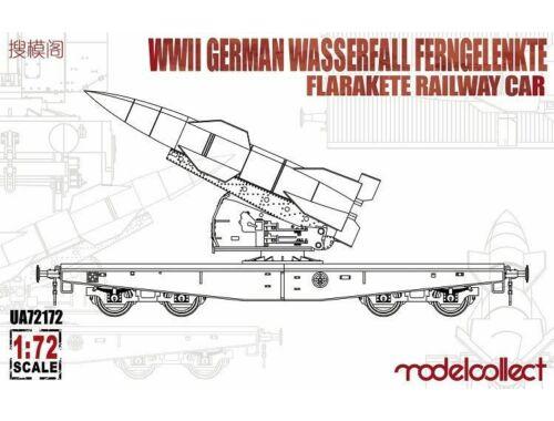 Modelcollect WWII German Wasserfall Ferngelenkte Flarakete Railway Car 1:72 (UA72172)