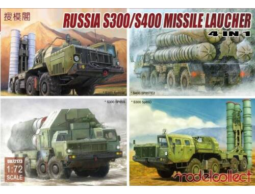 Modelcollect S-300/S400 Missile launcher,N in 1(*S300 5P85S*S300 5p85D*S300 5p85SE*S400 1:72 (UA7217