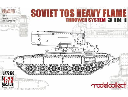 Modelcollect Soviet TOS Heavy Flame ThrowerSystem3in1 1:72 (UA72176)