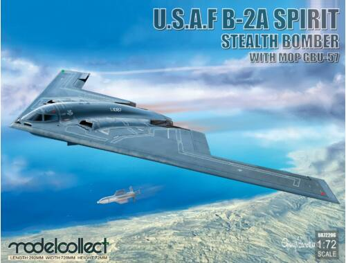 Modelcollect USAF B-2A Spirit Stealth Bomber with Mop GBU-57 1:72 (UA72206)