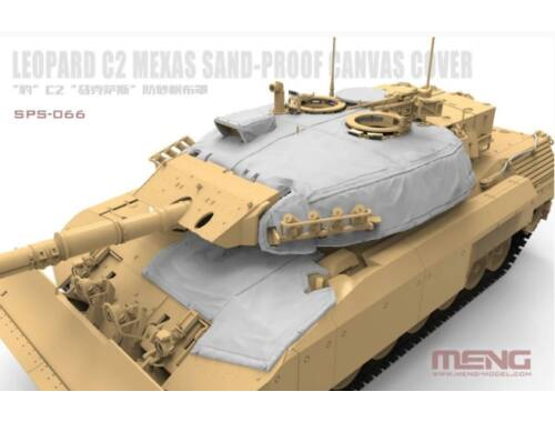Meng Canadian Main Battle Tank Leopard C2 MEXAS Sand-Proof Canvas Cover(Resin) 1:35 (SPS-066)