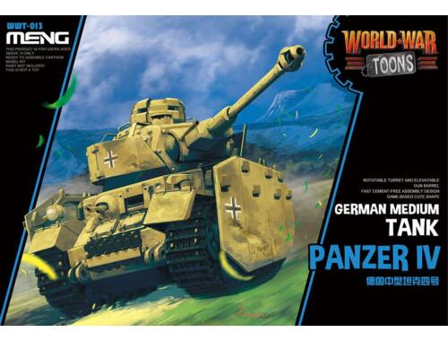 Meng German Medium Tank Panzer IV WW Toons Model (WWT-013)