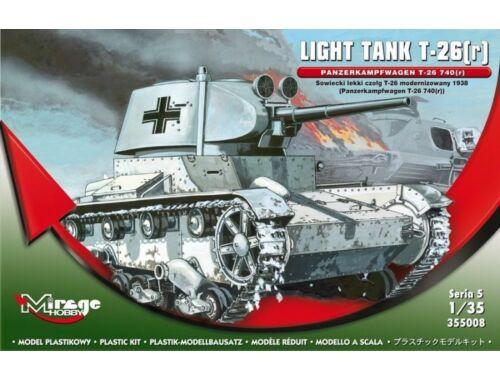 Mirage Hobby Light Tank T-26(r) Panzerkampfwagen T-26 740(r) Serie 5 1:35 (355008)