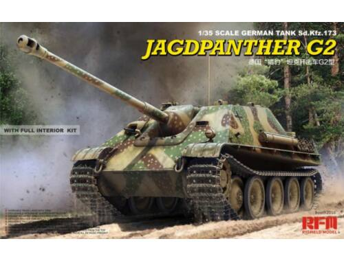Rye Field Model Jagdpanther G2 full interior workable track 1:35 (5022)