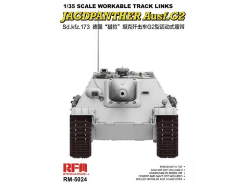 Rye Field Model Workable Track Links for Jagdpanther 1:35 (5024)