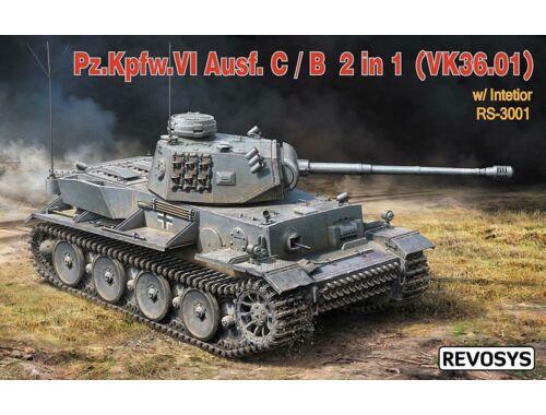 Rye Field Model Pz.KPFW.VI AUSF C/B(VK36.01)W/Interior 1:35 (RS-3001)