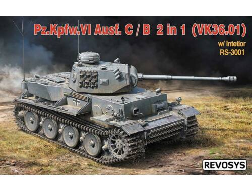 Rye Field Model Pz.KPFW.VI AUSF C/B(VK36.01)W/Interior 1:35 (RS-3001)