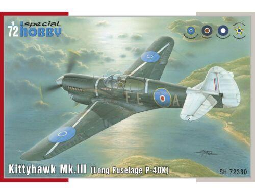 Special Hobby Kittyhawk Mk.III P-40 K Long Fuselage 1:72 (72380)