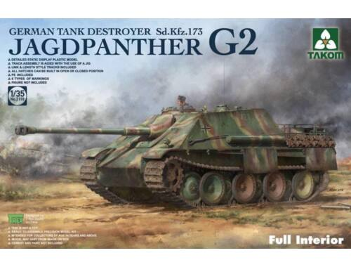 Takom Jagdpanther G2 German Tank Destroyer Sd. Kfz.173 w/full interior kit 1:35 (2118)